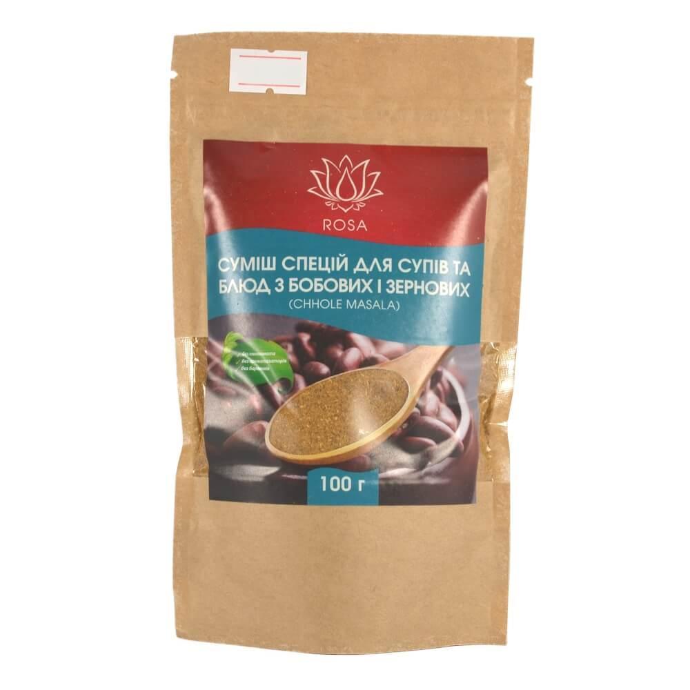 Чоли Масала (Chhole Masala) для блюд из бобовых, 100 грамм