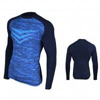 Рашгард (спортивный джемпер, кофта) Rashguard Smite LS, синяя M, фото 1