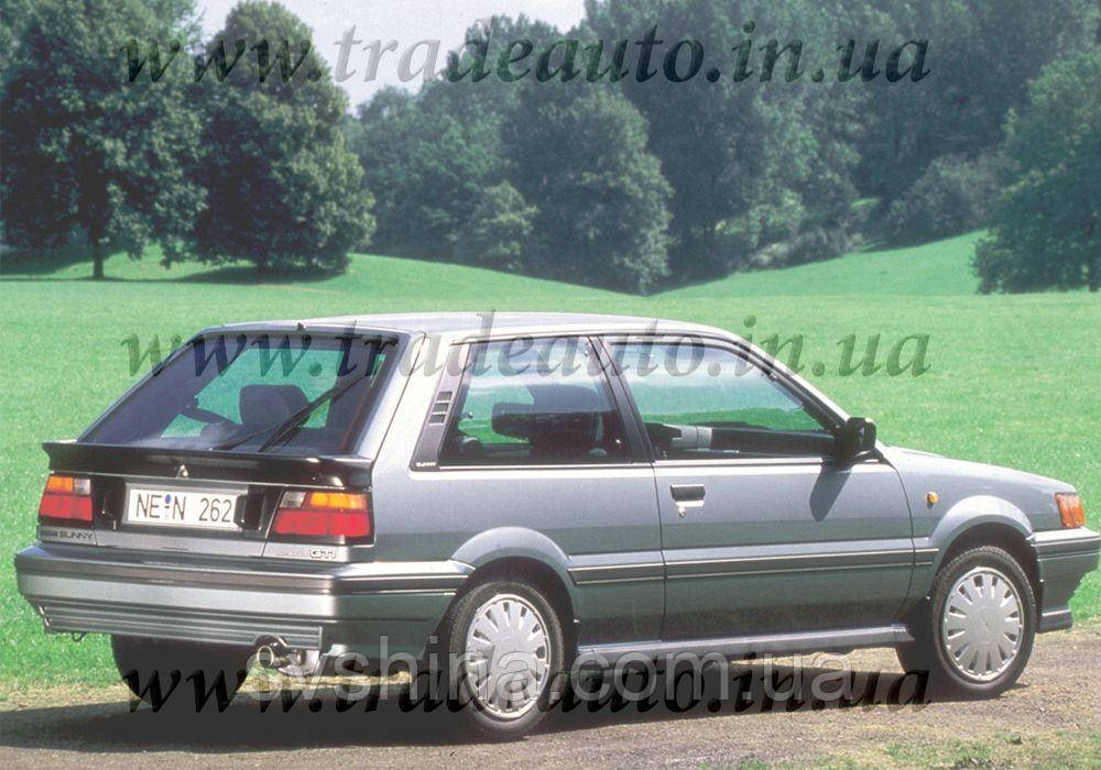 Дефлекторы окон Heko на Nissan  Sunny (N13) 1986-1990 3D