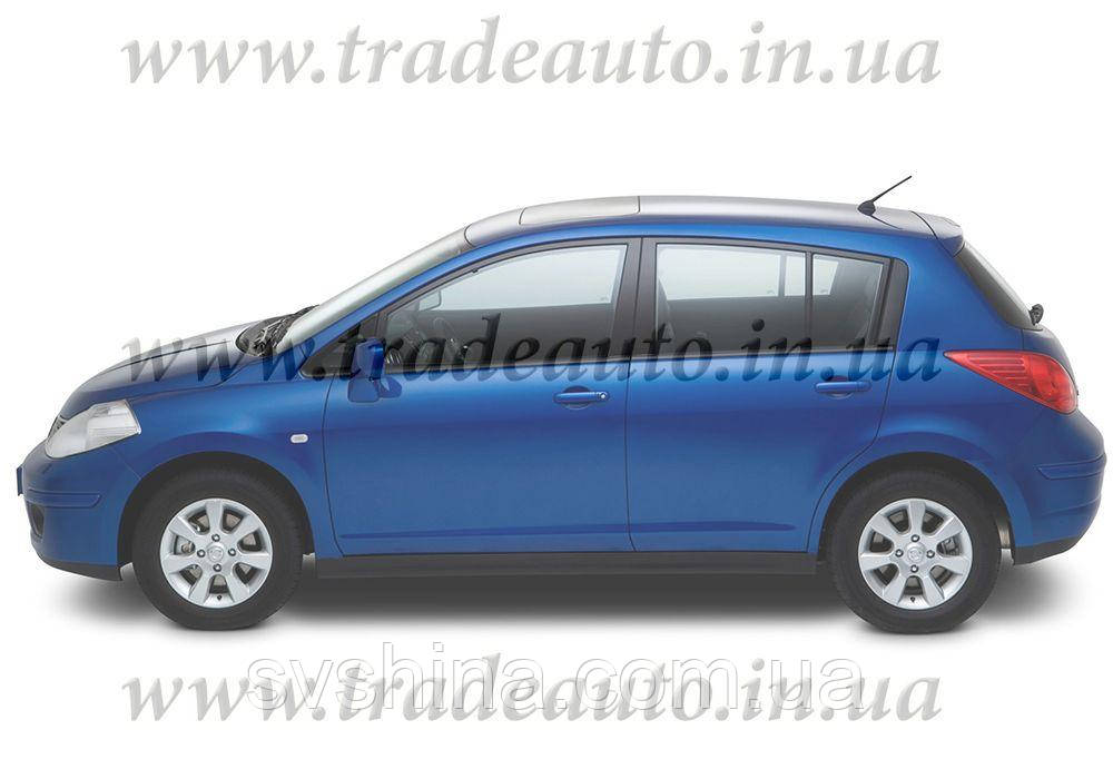Дефлекторы окон Heko на Nissan  Tiida 2006 -2011