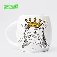 Чашка «Кошка в короне» 450 мл