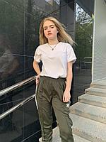 Спортивные штаны Adidas адидас женские оливковый Киев