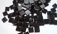 Стразы термоклеевые, Квадрат 8*8 мм, Black Jet (черный)