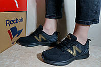 Кроссовки женские в стиле New Balance черные весна-лето