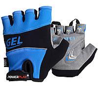 Велорукавички PowerPlay 1058 S Сині  КОД: 1058_S_Blue