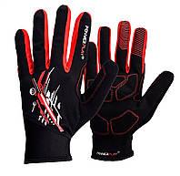Велорукавички PowerPlay 6607 XXL Чорно-червоні КОД: PP_6607_XXL_Red/Black