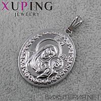 Иконка Xuping медицинское золото 30 х 22 мм