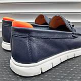 Лофери туфлі чоловічі сині, фото 3