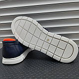 Лофери туфлі чоловічі сині, фото 4
