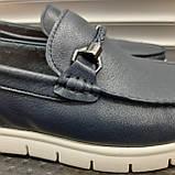 Лофери туфлі чоловічі сині, фото 5