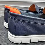 Лофери туфлі чоловічі сині, фото 6
