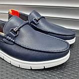 Лофери туфлі чоловічі сині, фото 7