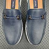 Лофери туфлі чоловічі сині, фото 8