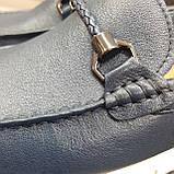 Лофери туфлі чоловічі сині, фото 9