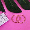 Золотые серьги кольца диам. 20 мм - Серьги конго золото, фото 2