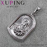 Иконка Xuping медицинское золото 27 х 17 мм