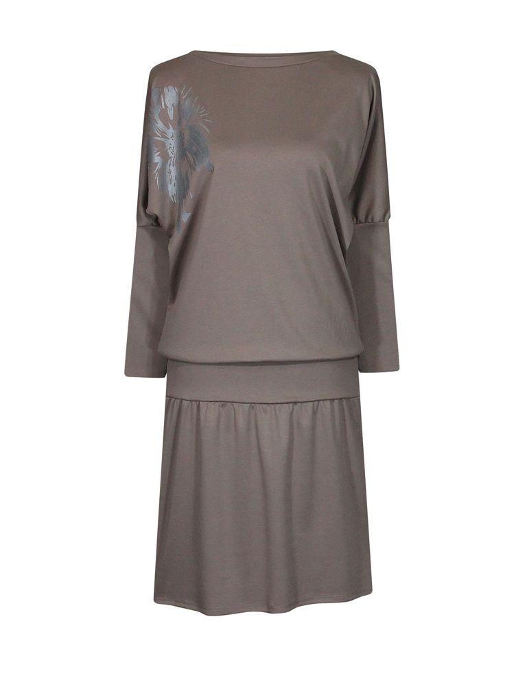 Платье летучая мышь с напуском Лилея женское
