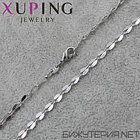 Цепочка Xuping медицинское золото Silver 47 см. 4 мм.