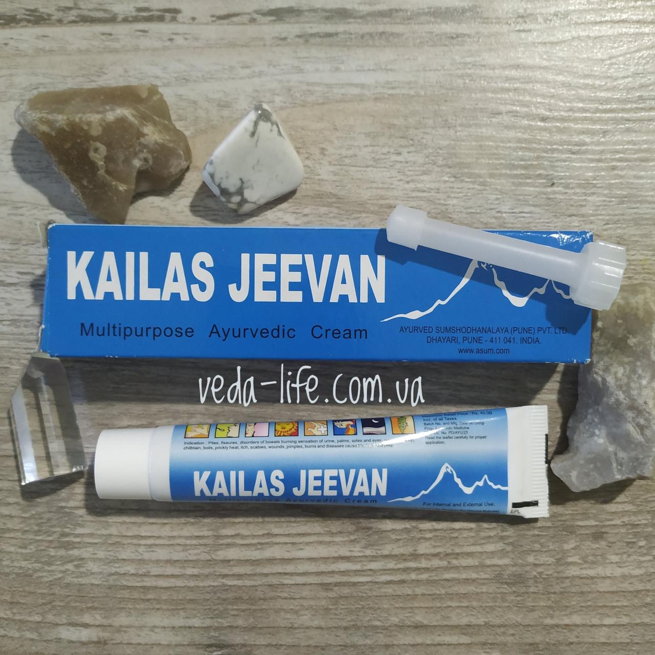Кайлаш Дживан. Мазь-бальзам. Kailas Jeevan. 20 грамм. Фурункулы. Ожоги. Раны. Укусы насекомых. Обморожения