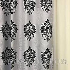 Готовые шторы Лен Блэкаут для спальни или гостинной 1,5х2,7.Корона, фото 3