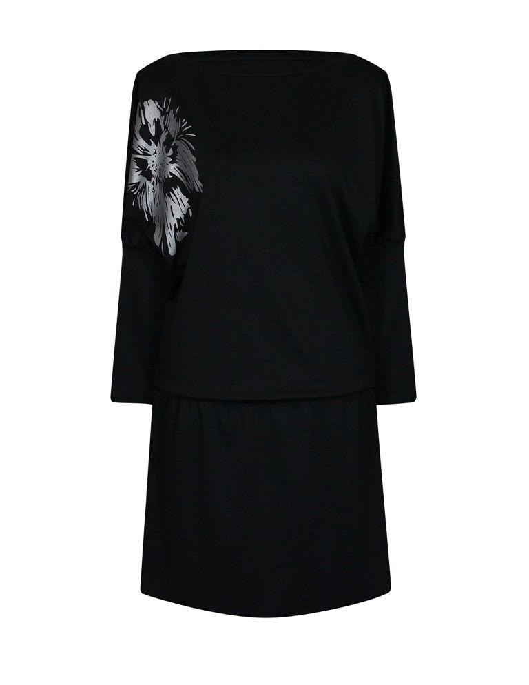 Черное недорогое платье больших размеров Лилея