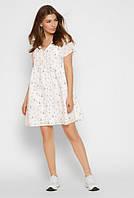Платье молодежное с мелким цветочным принтом