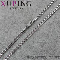 Цепочка Xuping медицинское золото Silver 50 см. 4 мм.