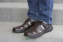 Сандалии мужские коричневые 40р, фото 3