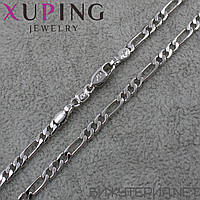 Цепочка Xuping медицинское золото Silver 45 см. 4 мм.
