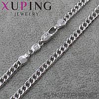 Цепочка Xuping медицинское золото Silver 50 см. 6 мм.