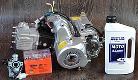 Двигатель на мопед Альфа; Дельта 110 куб механика (21ком-белый)