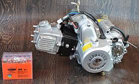 Двигатель на мопед Альфа; Дельта 110 куб механика (21а)