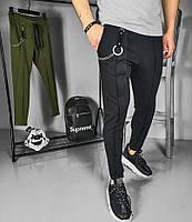 Мужские штаны спортивные черные Турция. Живое фото