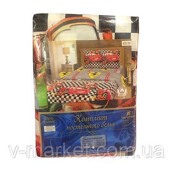 """""""Тачки"""" полуторное постельное белье с детским рисунком, Тирасполь, Tirotex, 100% хлопок"""