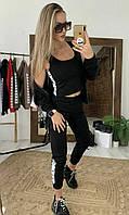 Женский стильный спортивный костюм тройка Мастерка + штаны + топ  РАЗНЫЕ ЦВЕТА