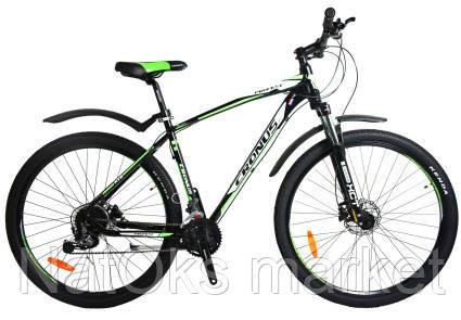 """Велосипед Cronus ProFast 29"""" Black-Green-White"""