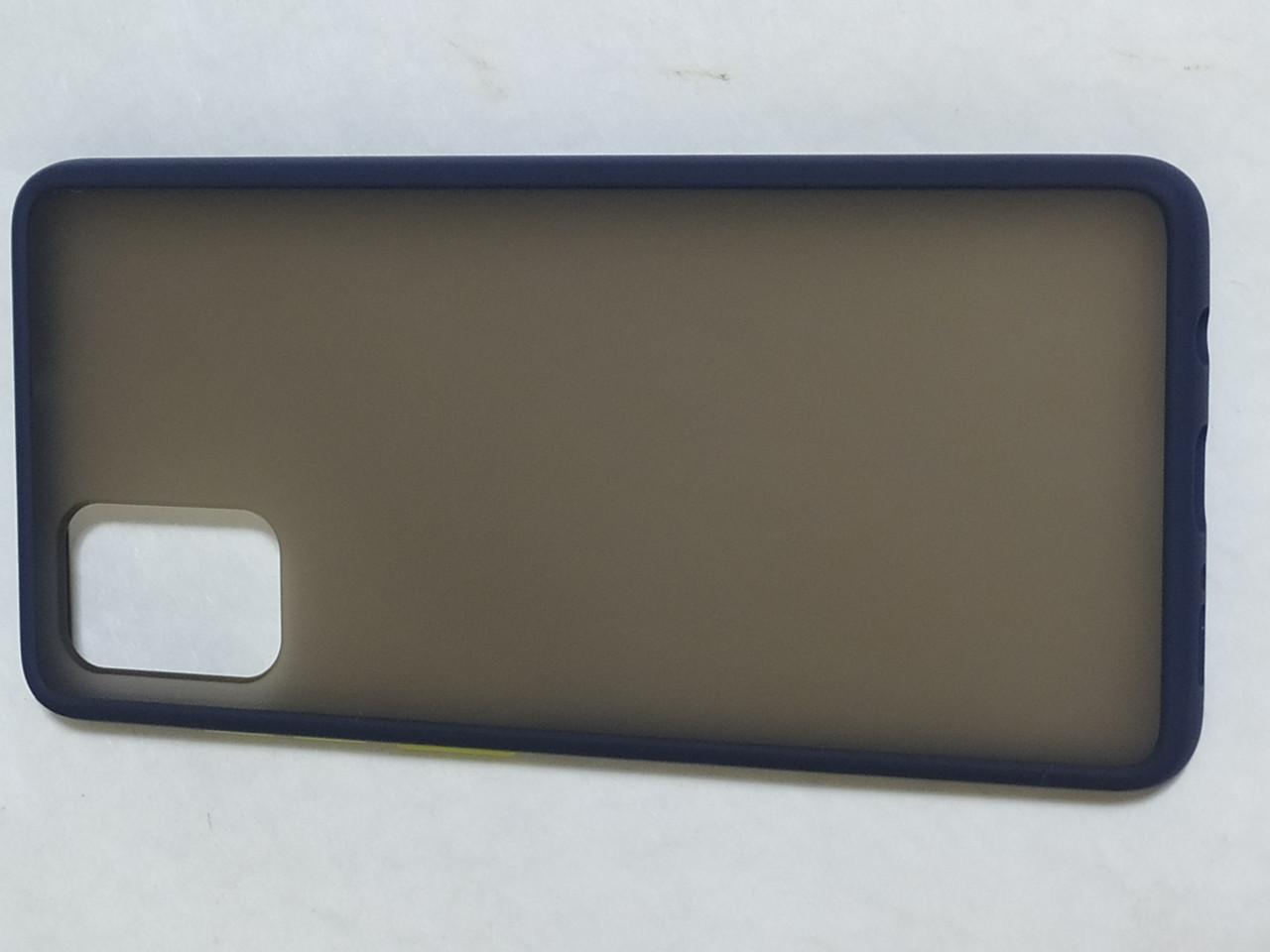 Чехол накладка  Totu Gingle Series Samsung A71 (синий)