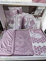 Комплект постельного белья Altinbasak Vizion Евро 200*220 трикотаж цвет: розовый
