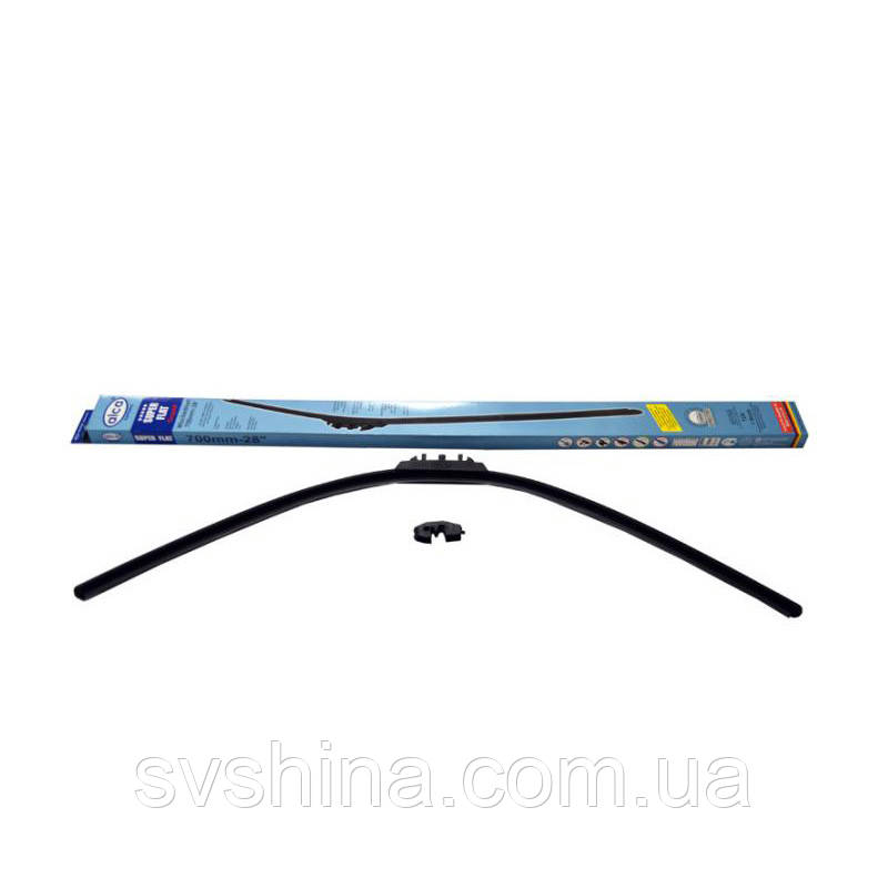 Щетка стеклоочистителя (дворник) Alca Super Flat 700mm, бескаркасная, 058000