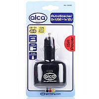 """Разветвитель для прикуривателя """"AutoStecker"""" Alca 12V, 1+2USB, 510100, фото 1"""