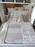 Комплект постельного белья Altinbasak  Евро трикотаж цвет: беж