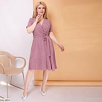 Красивое нарядное женское платье на запах длины миди размеры 48-58 арт 98
