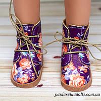 Ботиночки сиреневые розы для кукол Паола Рейна