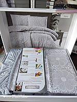 Нежнейший комплект постельного белья Аltinbasak трикотаж цвет беж