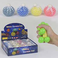 Игрушка -антистресс Мозги, двухцветные, неоновые, 4 цвета диаметр 7см, цена за 12 штук в блоке SKL11-182943