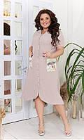 Платье-рубашка большего размера, фото 1