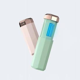 Портативный ультрафиолетовый УФ-Стерилизатор Mini UVC Sanitizer зеленый