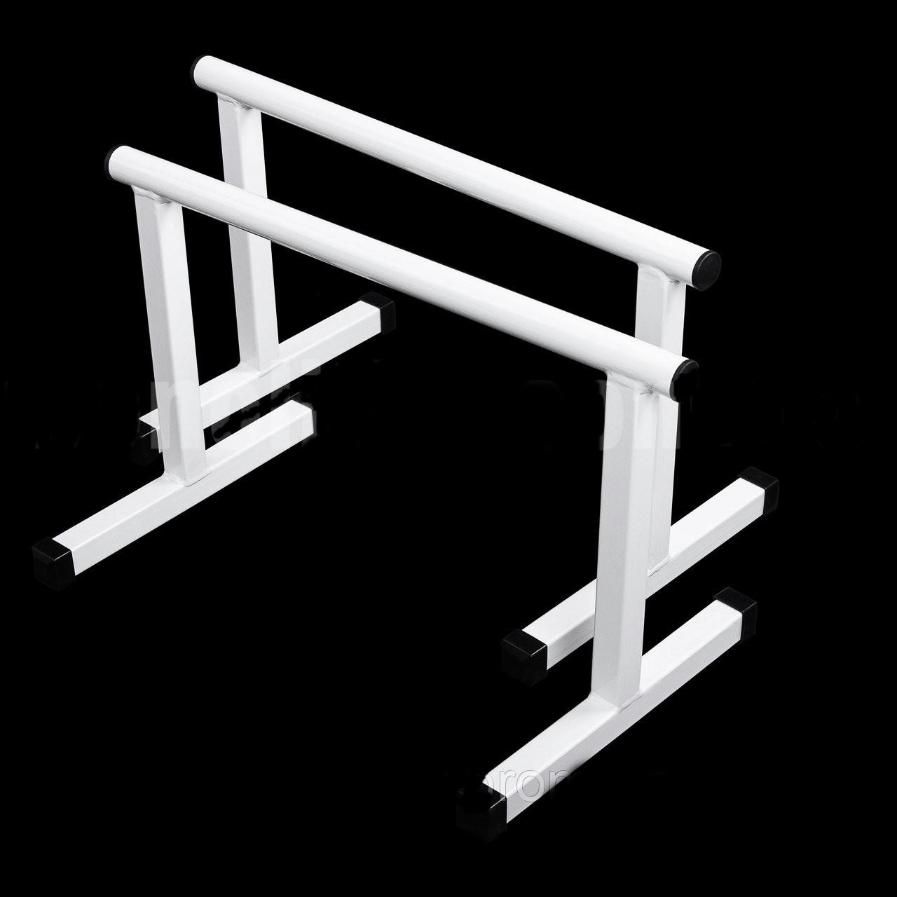 Паралетсы, напольные брусья Sub Bilding для Workout 35 см белые