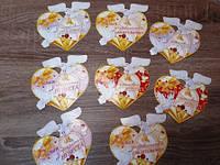 Набор свадебные медали в виде сердца., фото 1