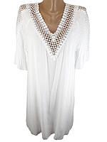 Женскоепляжноеплатье-туника с кружевом Z.Five 706 белое на 52-54 размер